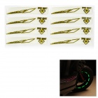 DIY Cool Glow-in-the-Dark Wheel Tire Rim Decoration Stickers Decals Set for Motorcycle - Yellow