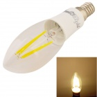 YouOKLight E14 4W LED Filament Candle Light Warm White 3000K 380lm - White (AC 85~265V)