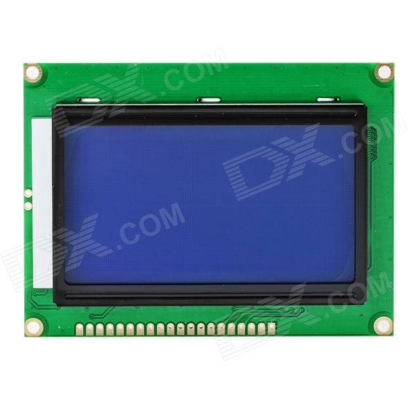 3.2 White on Blue LCD Display Screen Module w/ Chinese Character Stock / Backlight - Deep BlueDIY Parts &amp; Components<br>Model12864Quantity1 DX.PCM.Model.AttributeModel.UnitForm ColorDeep BlueMaterialPCBEnglish Manual / SpecYesOther FeaturesMore information, pls refer to: http://pan.baidu.com/netdisk/singlepublic?fid=1127527_3654404856CertificationNoPacking List1 x LCD module<br>