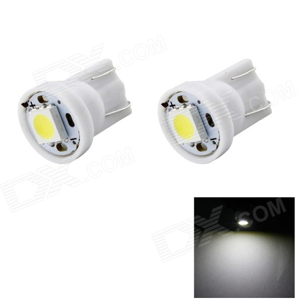 HONSCO T10 1W Car Clearance Lamps Cold White 6500K LED - White (2PCS)Tail Lights<br>Color BINCold WhiteModel2xT10-1A-WQuantity1 DX.PCM.Model.AttributeModel.UnitMaterialPVCForm ColorWhiteEmitter Type5050 SMD LEDChip BrandOthers,N/AChip Type5050Total Emitters1Power1WColor Temperature6500 DX.PCM.Model.AttributeModel.UnitTheoretical Lumens20 DX.PCM.Model.AttributeModel.UnitActual Lumens14 DX.PCM.Model.AttributeModel.UnitRate VoltageDC 12VWaterproof FunctionNoConnector TypeT10ApplicationLicense plate light,Clearance lamp,Indicator lamp,Roof light,Side lightCertificationCE, RoHSPacking List2 x T10 LED bulbs<br>