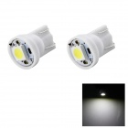 HONSCO T10 1W Car Clearance Lamps Cool White 6500K 14lm SMD 5050 - White (DC 12V / 2 PCS)