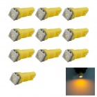 HONSCO T5 0.25W 1x5050 SMD LED Yellow Light Dashboard Instrument Bulb Lamp (DC 12V / 10PCS)