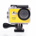 "EOSCN HD1080P 2"" LCD Waterproof Sports Camera 5.0MP Camcorder - Yellow"