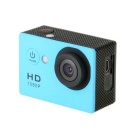 "EOSCN HD1080P 2"" LCD Waterproof Sports Camera 5.0MP Camcorder - Blue"