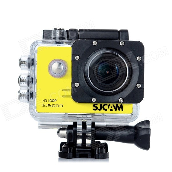 "SJCAM SJ5000 14MP 2.0"" TFT 170' Action Digital Video Camera - Yellow"