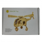 DIY Colored Drawing and Solar Assembled Helicopter Kit - Wood