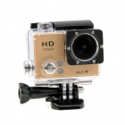 "EOSCN 30m Waterproof 1080P Full HD 2"" LCD 12.0MP CMOS Wi-Fi Sports Camera - Gold"