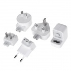 5V / 1A USB Output Power Adapter Charger w/ US / EU / UK / AU Plug Adapters - White (100~240V)
