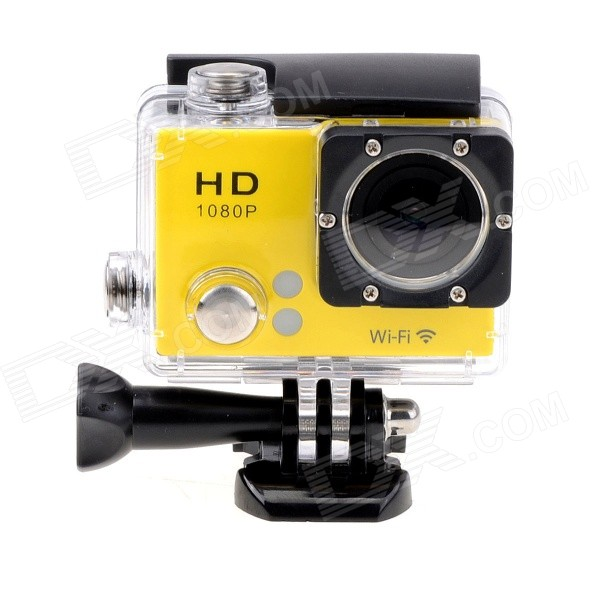 EOSCN 30M Waterproof 1080P Full HD 2'' LCD 12.0MP CMOS Wi-Fi Sports Camera - Yellow - Cameras Photo and Video - Consumer Electronics