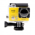 "EOSCN 30M Waterproof 1080P Full HD 2"" LCD 12.0MP CMOS Wi-Fi Sports Camera - Yellow"