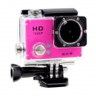 "EOSCN 30M Waterproof 1080P Full HD 2"" LCD 12.0MP CMOS Wi-Fi Sports Camera - Deep Pink"
