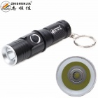 ZHISHUNJIA 1303-T6 1-LED 800lm 3-Mode Cool White Light Flashlight w/ Keychain - Black (1 x 16340)