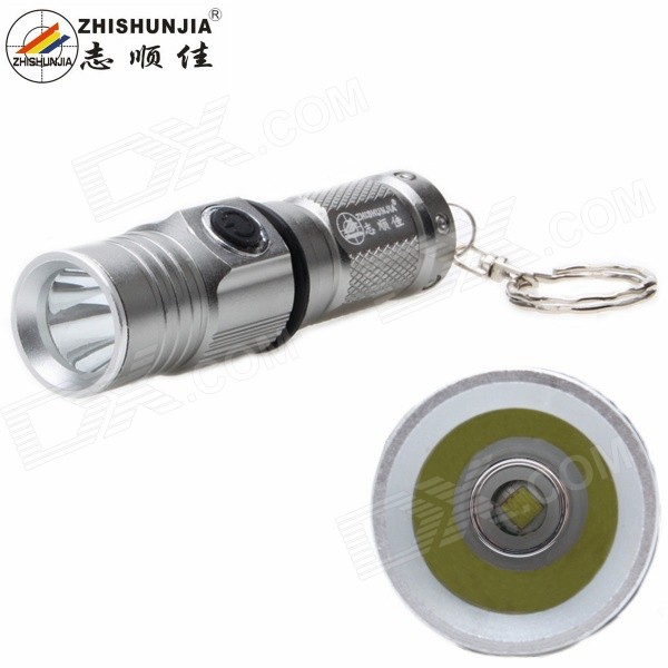 ZHISHUNJIA 1303-T6 1-LED 700lm 3-ModeWhite Light FlashlightCR123A/16340 Flashlights<br>Form  ColorGreyModel1303-T6Quantity1 DX.PCM.Model.AttributeModel.UnitMaterialAluminum alloyEmitter BrandOthers,N/ALED TypeXM-LEmitter BINT6Color BINCold WhiteNumber of Emitters1Working Voltage   3.7 DX.PCM.Model.AttributeModel.UnitPower Supply1 x 16340 batteries (not included)Current2.5 DX.PCM.Model.AttributeModel.UnitActual Lumens700 DX.PCM.Model.AttributeModel.UnitRuntime3 DX.PCM.Model.AttributeModel.UnitNumber of Modes3Mode ArrangementHi,Low,Fast StrobeMode MemoryYesSwitch TypeClicky SwitchSwitch LocationSideLensGlassReflectorAluminum SmoothBeam Range100 DX.PCM.Model.AttributeModel.UnitStrap/ClipNoOther FeaturesWith key chainBrandZHISHUNJIAOther FeaturesOthers,3-ModeOutput(lumens)501-800Runtime(hours)2.1-3Packing List1 x Flashlight<br>