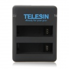 TELESIN C01450 USB Dual Slot Battery Charger für GoPro Hero 4 - Schwarz