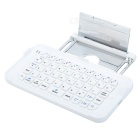 49-Key Wireless Bluetooth V3.0 Keyboard w/ Stand for IPHONE 6 PLUS - White