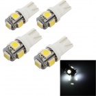 YouOKLight YK1450 T10 1.2W Car LED Bulbs Cool White Light 6500K 50lm 5-5050 SMD (DC 12V / 4 PCS)