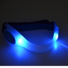 Cycling 2-Mode LED White Light Armband - White + Blue (2 * CR2032)