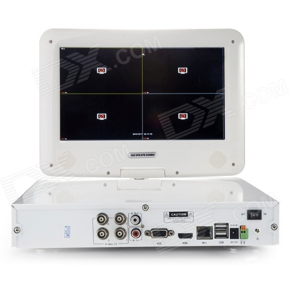 ANNKE 4-CH 960H 10 1 LCD Combo PAL System QR Code Scan Remote View w / HDMI  DVR / NVR / HVR (NO HDD)