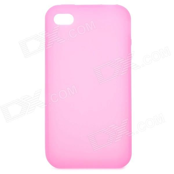 Protective Silicone Case for Iphone 4 - Pink protective back case for iphone 4 4s red