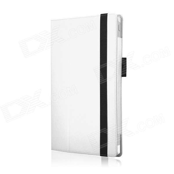 Protective PU Leather Case w/ Stand for Microsoft Surface Pro 3 - White