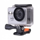 "EOSCN HD1080P 2"" LCD 5.0MP Waterproof Camera Action Camcorder - Silver"