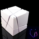 LED Colorful Bluetooth Mini Speaker w/ TF Card Reader, FM, Mic - White
