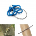 Outdoor Camping Mountaineering Survival Emergency Tool Stainless Steel Wire Saw - Blue + Silver