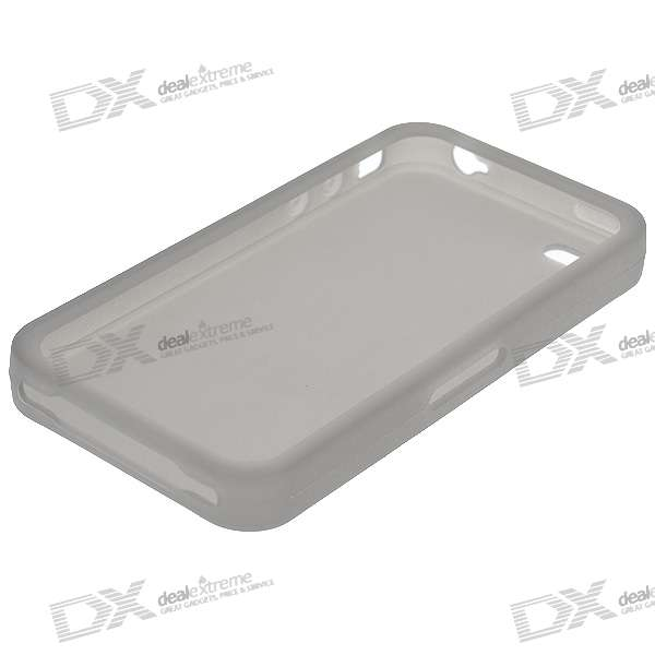 Protective Silicone Case for Iphone 4 - Grey