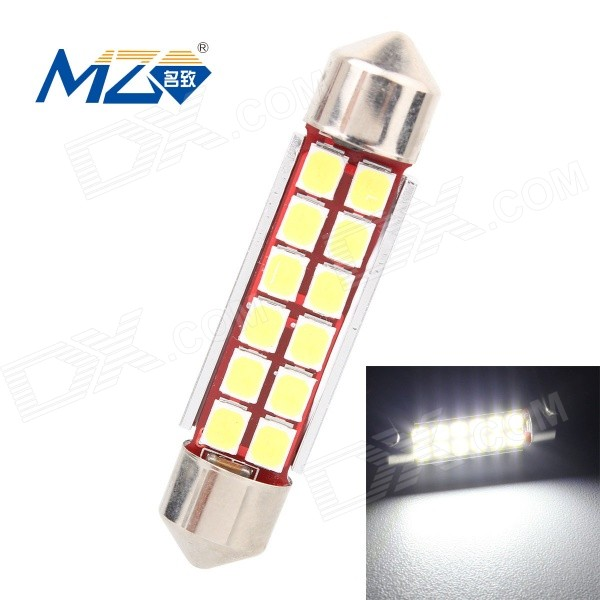 MZ 6W 42mm Error-Free 12-LED Car Reading Lamp / Roof Light (12~18V)