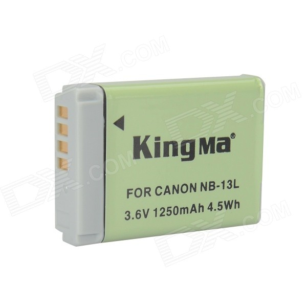 Kingma NB-13L 1250mAh Battery for Canon PowerShot G7 X - Grey + Green