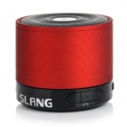 SLANG Bluetooth V3.0 Rechargeable Super Bass Media Player Speaker w/ TF / FM / Audio - Dark Red