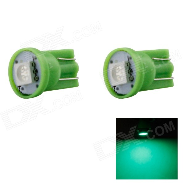 HONSCO T10 1W 560nm 14lm SMD 5050 Green Car Lamp (DC 12V / 2PCS)