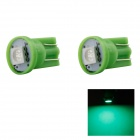 HONSCO T10 1W LED Car Clearance Lamp Bulbs Green Light 560nm 14lm SMD 5050 (DC 12V / 2 PCS)