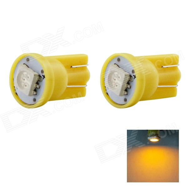 HONSCO T10 1W 590nm 14lm SMD 5050 Yellow Car Lamp (DC 12V / 2PCS)