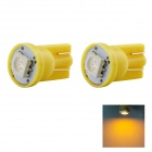 HONSCO T10 1W LED Car Clearance Lamp Bulbs Yellow Light 590nm 14lm SMD 5050 (DC 12V / 2 PCS)