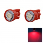 HONSCO T10 14lm 1x5050 SMD LED Red Light Clearance Lamp Bulb (DC 12V / 2 PCS)