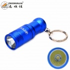 ZHISHUNJIA XM-L T6 1-LED 700lm 3-Mode Cool White Light Flashlight w/ Keychain - Blue (1 x 16340)