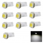 HONSCO T5 0.25W Dashboard Instrument Bulb Lamp Cool White 6500K 14lm 1-5050 SMD LED  (DC 12V /10PCS)