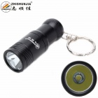 ZHISHUNJIA XM-L T6 1-LED 700lm 3-Mode Cool White Light Flashlight w/ Keychain - Black (1 x 16340)