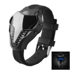 MAIKOU Fashionable TPU Wrist Band Blue Light LED Digital Watch - Black + Blue (1 x CR2016)