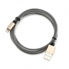 MFi Le Touch Matrix Series USB Lightning Data Cable for IPHONE / IPAD / IPOD - Black + Gold (1.2m)