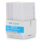 RFID 125KHz Entry Access EM Cards ID Card - White (25PCS)