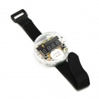 DIY 4-digit Seven-Segment Display Digital Watch Kit w/ Velcro Band - Translucent + Black