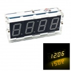 DIY 4-digit Seven-segment Display Digital Light Control Desk Clock Kit (Yellow Light)