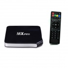 MX Pro Quad-Core-Android 4.4.2 Goolge TV Player w / 1GB RAM, 8 GB ROM, BT, WLAN - Schwarz (AU Stecker)