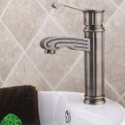 Antique Chrome Finish Brass Bathroom Sink Faucet - Antique Brass