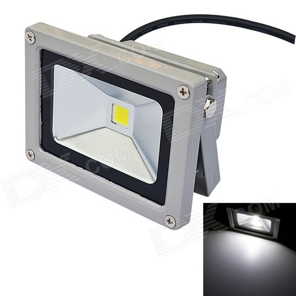 10W 800lm 6500K Cool White Light COB LED Floodlight - Gray (DC 12V)Floodlights<br>Form  ColorGreyColor BINWhiteModelFL-10W-002-CW-DCMaterialAluminum alloyQuantity1 DX.PCM.Model.AttributeModel.UnitWaterproof LevelIP65Power10WRated VoltageDC 12 DX.PCM.Model.AttributeModel.UnitConnector TypeOthers,WiredChip BrandOthers,N/AEmitter TypeCOBTotal Emitters1Theoretical Lumens800 DX.PCM.Model.AttributeModel.UnitActual Lumens800 DX.PCM.Model.AttributeModel.UnitColor Temperature12000K,Others,6000~6500KDimmableNoBeam Angle120 DX.PCM.Model.AttributeModel.UnitPacking List1 x LED Flood Light (Cable length 30cm)<br>