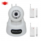 HOSAFE 1MW11 Smart Home Security System Wireless IP Camera With Door / Window Sensor  - White