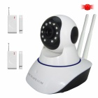 HOSAFE 1MW9 CMOS 1.0MP Home Security IP Camera w/ 11-IR-LED / Door&Window Sensor / TF (US Plug)