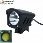 ZHISHUNJIA DG-1B XM-L T6 LED 1000lm 5-Mode White Bike Light Headlamp w/ Mount - Black (4 x 18650)